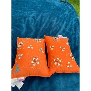 2 NWT ROXY COWRIE SHELL BEADED PILLOWS